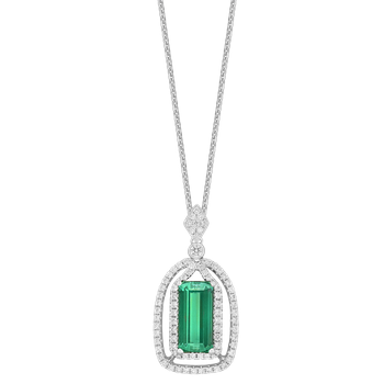 Tourmaline & Diamond Necklace
