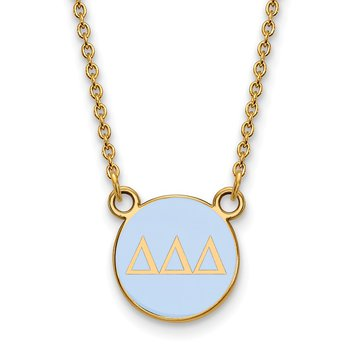 Gold-Plated Sterling Silver Delta Delta Delta Greek Life Necklace