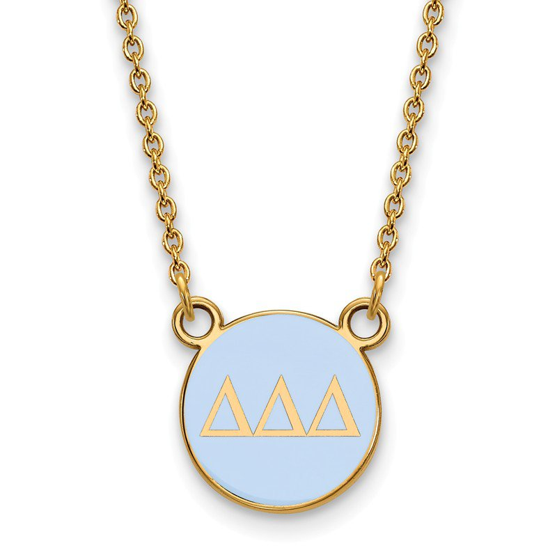 Greek Life Gold-Plated Sterling Silver Delta Delta Delta Greek Life Necklace
