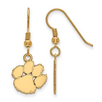 Gold-Plated Sterling Silver Clemson University NCAA Earrings
