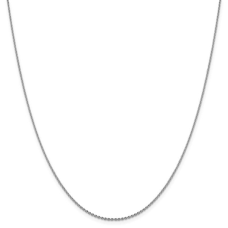 Leslie's Leslie's 14K White Gold 1.40 mm D/C Oval Open Cable Link Chain