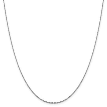 Leslie's 14K White Gold 1.40 mm D/C Oval Open Cable Link Chain
