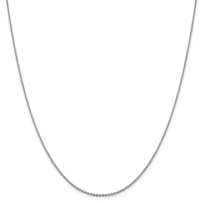 Leslie's Leslie's 14K White Gold 1.25 mm D/C Oval Open Cable Link Chain