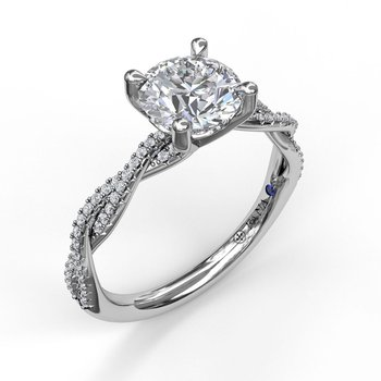 Petite Diamond Twist Engagement Ring