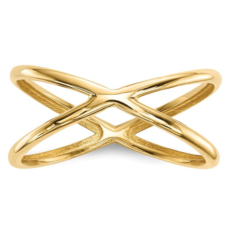Quality Gold 14k Gold Polished Double Ring