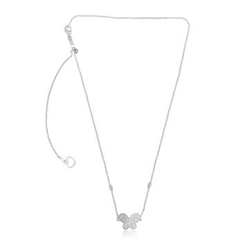 White Diamond Butterfly Necklace
