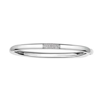 14K Gold .22ct Diamond Heritage Bangle