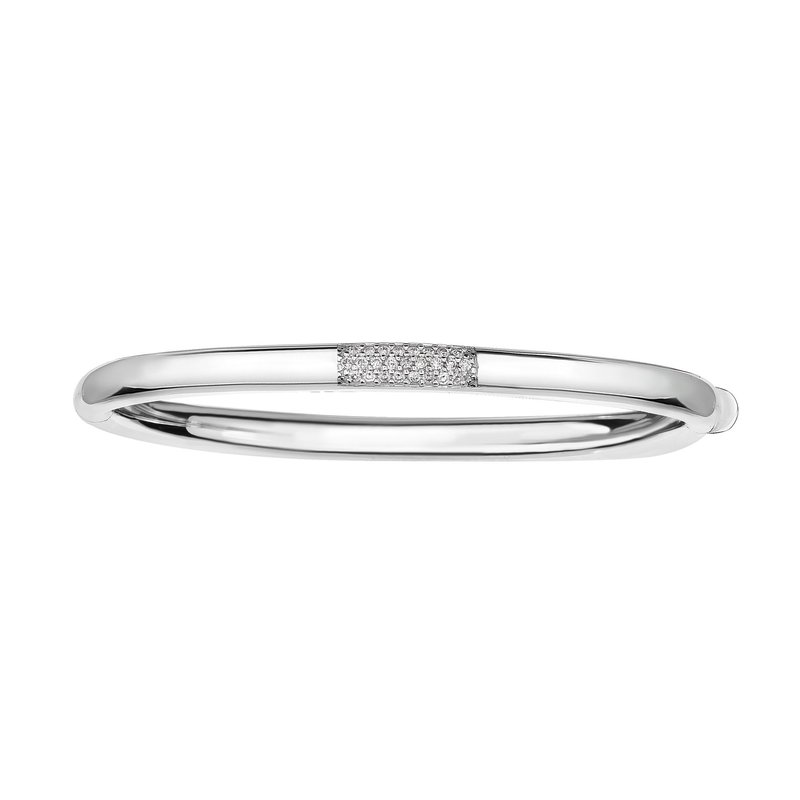 Royal Chain 14K Gold .22ct Diamond Heritage Bangle