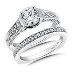 Valina Diamond Engagement Ring Mounting in 14K White Gold (.32 ct. tw.)