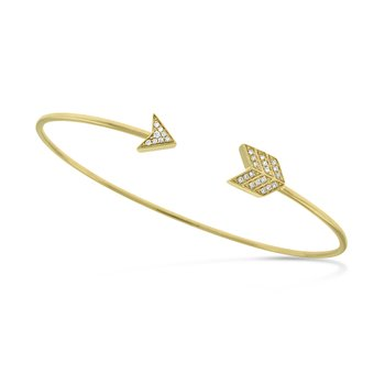 Diamond Arrow Bracelet in 14K Yellow Gold with 26 Diamonds Weighing .08 ct tw