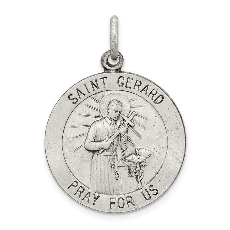 Quality Gold Sterling Silver Saint Gerard Medal
