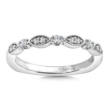Stackable Wedding Band in 14K White Gold (.14 ct. tw.)