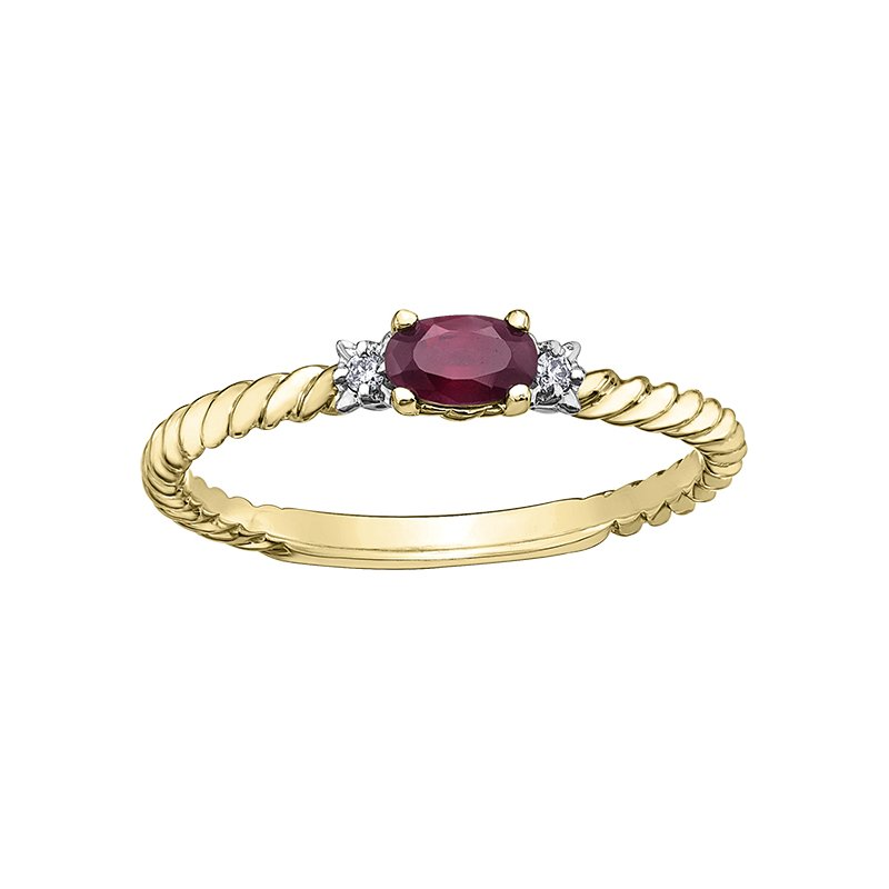 D of D Signature Birthstone & Diamond Ladies Ring