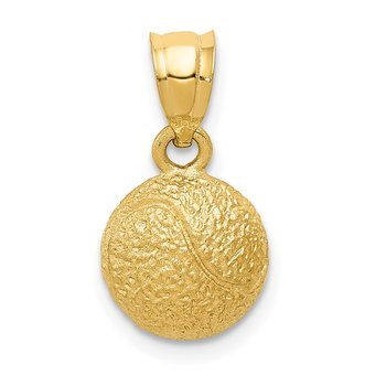 14k Tennis Ball Pendant