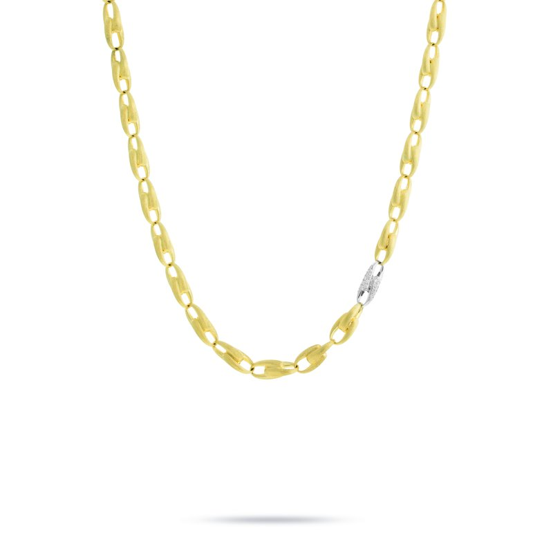 Marco Bicego Marco Bicego® Lucia Collection 18K Yellow Gold and Diamond Medium Link Chain Necklace