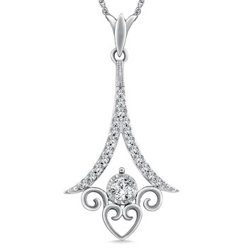 Diamond Pendant in 14K White Gold (.22 ct. tw.)