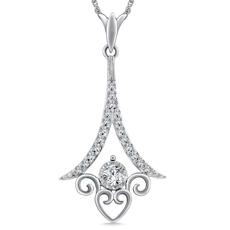 SDC Creations Diamond Pendant in 14K White Gold (.22 ct. tw.)