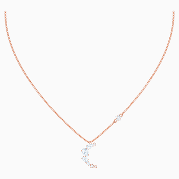 Penélope Cruz Moonsun Necklace, White, Rose-gold tone plated