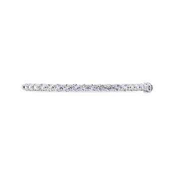 3.60 ct Round White Diamond Bangle Bracelet