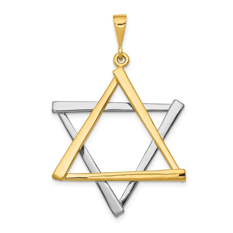J.F. Kruse Signature Collection 14k Two-tone Star Of David Pendant