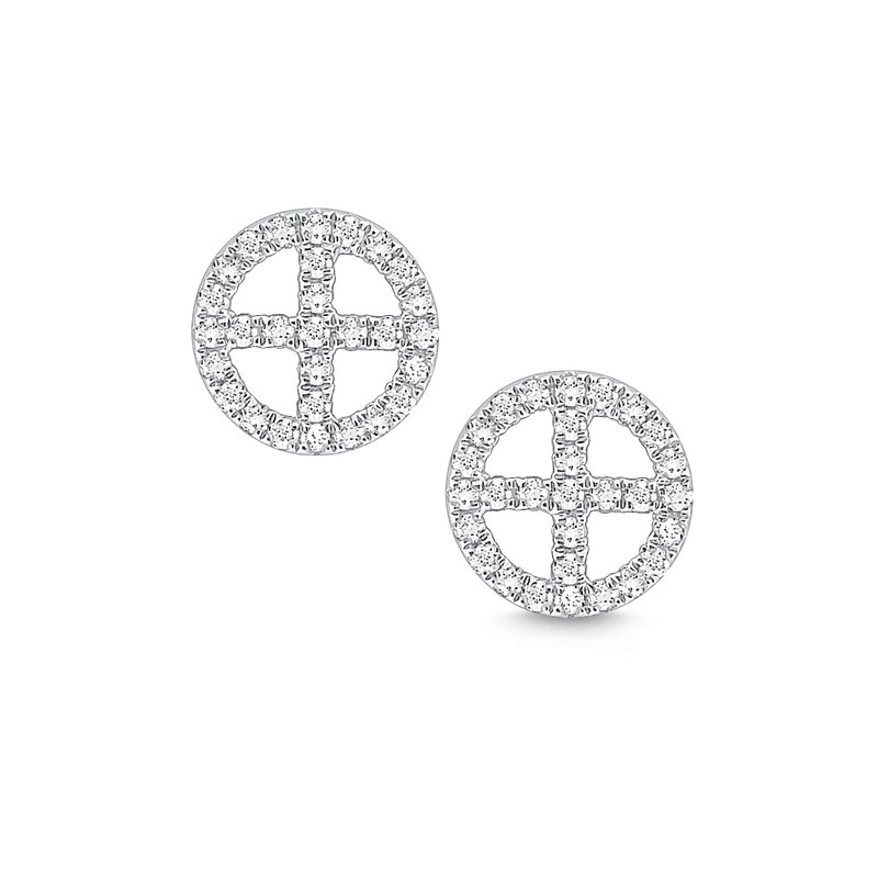 KC Designs 14k Gold and Diamond Geometric Stud Earrings