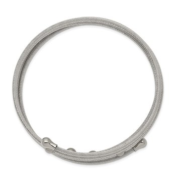 Stainless Steel Polished Flexible Coil Bangle