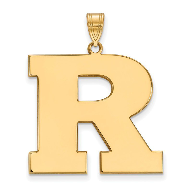 NCAA Gold-Plated Sterling Silver Rutgers University NCAA Pendant
