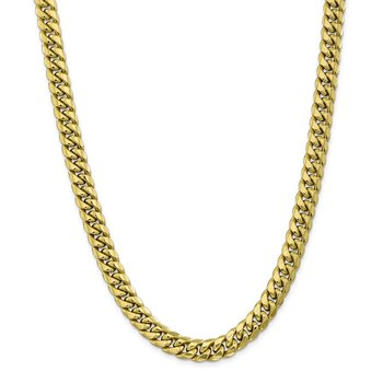 Leslie's 10K Semi-Solid 9.3 mm Miami Cuban Chain