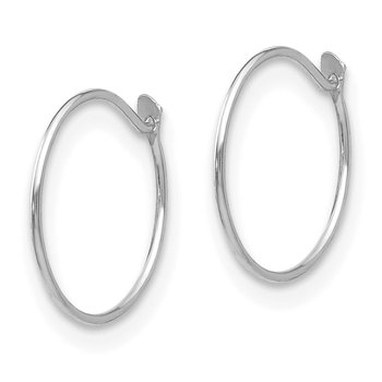 14k White Gold Madi K Sm. Endless Hoop Earrings