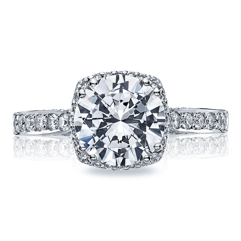 Tacori Dantela Round Platinum Engagement Ring