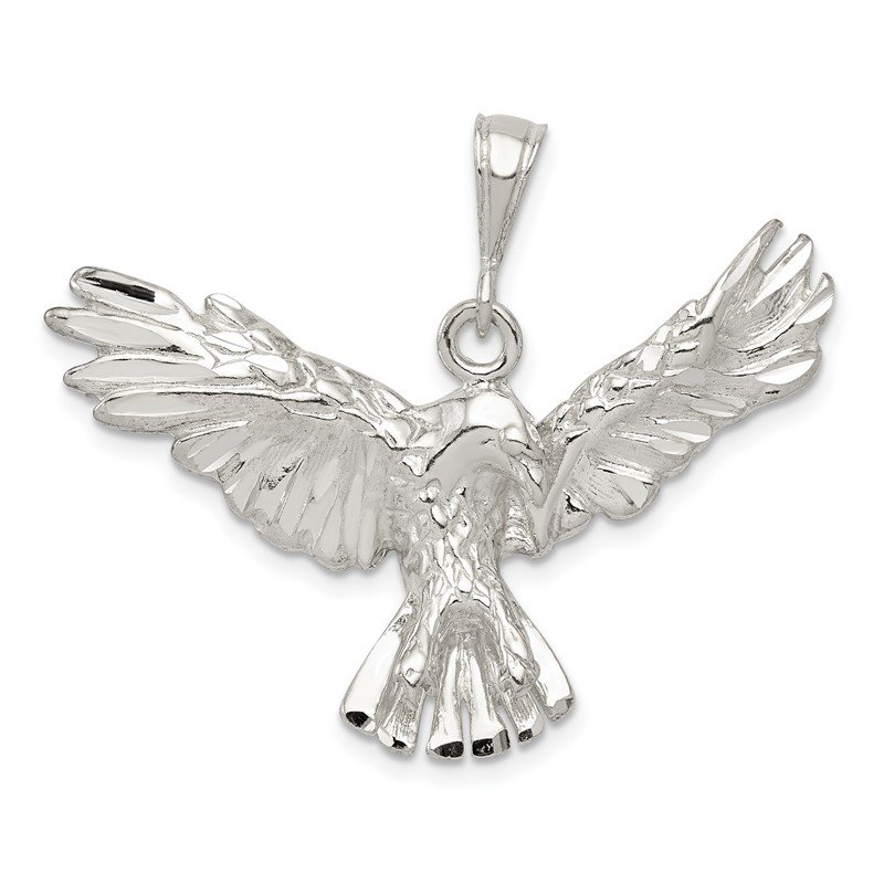Quality Gold Sterling Silver Eagle Pendant