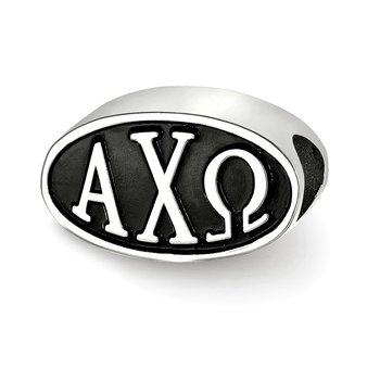 Sterling Silver Alpha Chi Omega Greek Life Bead