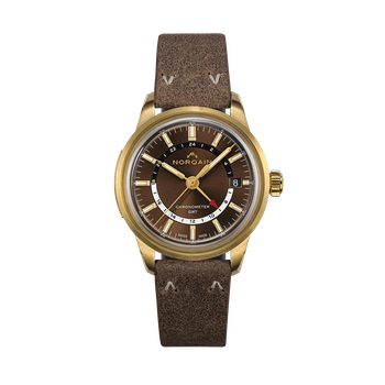 Freedom 60 GMT Limited Edition Bronze Case - Praline Leather Strap