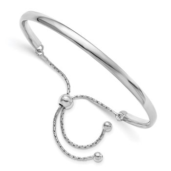 Leslie's Sterling Silver Polished Adjustable Bangle