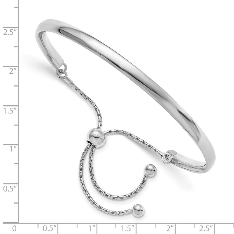 Leslie's Leslie's Sterling Silver Polished Adjustable Bangle