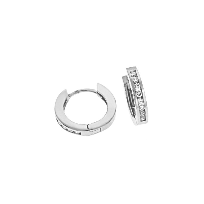 S. Kashi  & Sons Diamond Huggie Earring