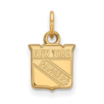 Gold-Plated Sterling Silver New York Rangers NHL Pendant