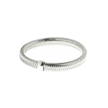 18Kt White Gold Small Bangle