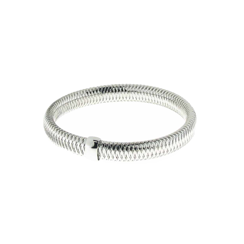 Roberto Coin 18KT WHITE GOLD SMALL BANGLE