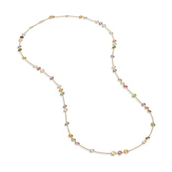 Jaipur Mixed Gemstones Small Bead Long Necklace
