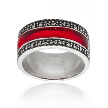 Simple Red Enamel Ring