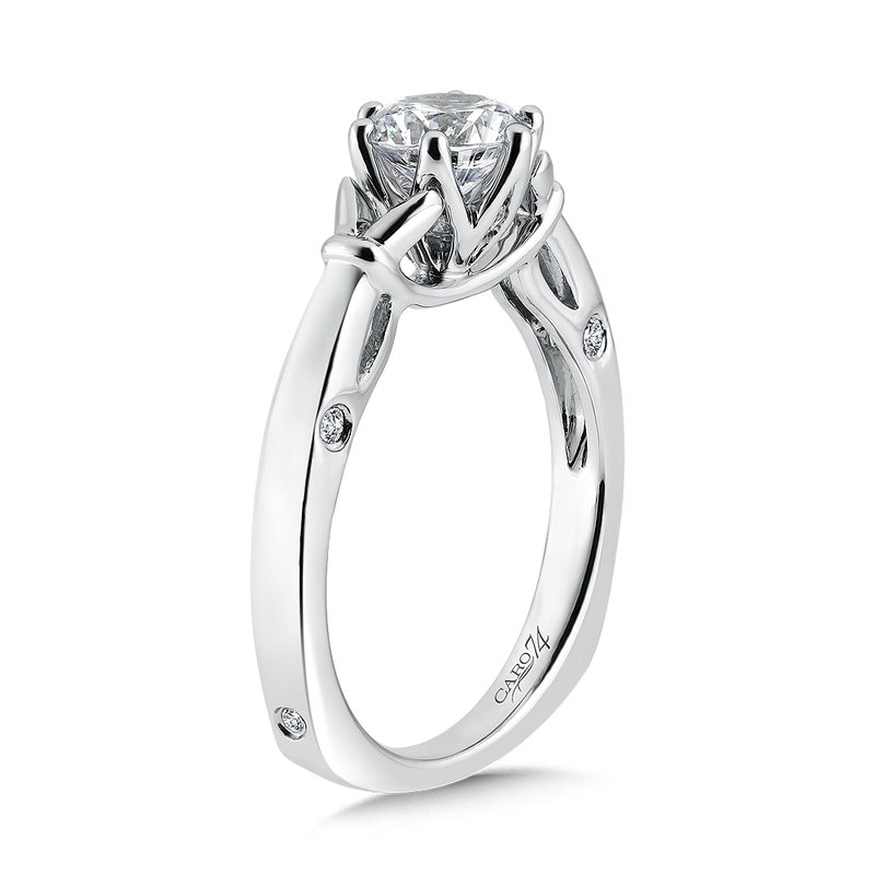 Caro74 6-Prong Center Solitaire Engagement Ring in 14K White Gold (1ct. tw.)