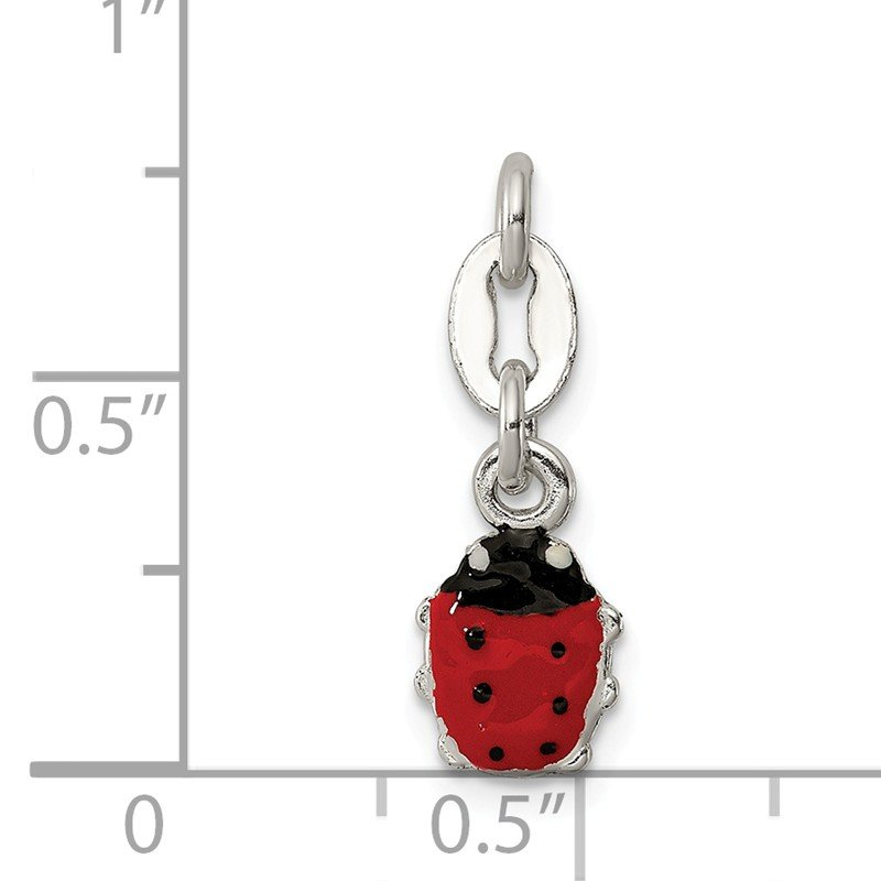Quality Gold Sterling Silver Enameled Ladybug Charm