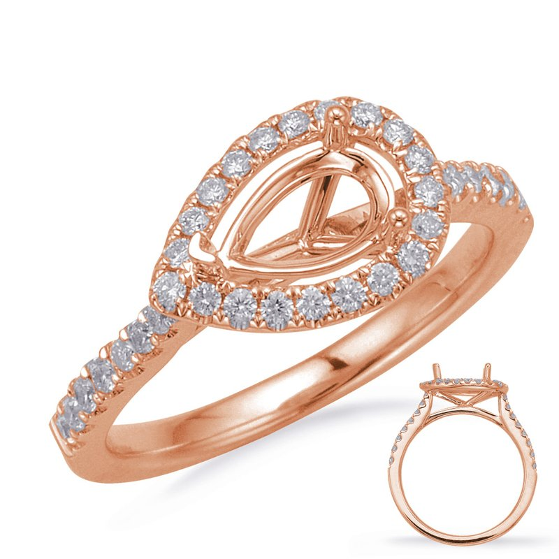S. Kashi & Sons Bridal Rose Gold Halo Engagement
