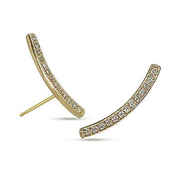 10K YG Diamond Climber Earring in Channel Prong Setting
