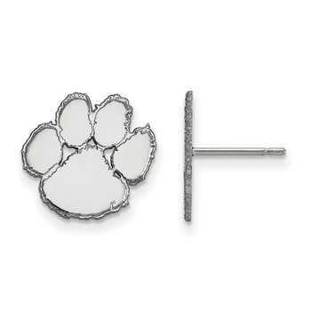 Sterling Silver Clemson University NCAA Earrings