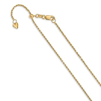 Leslie's 14K 1.2 mm Diamond-cut Adjustable Rope