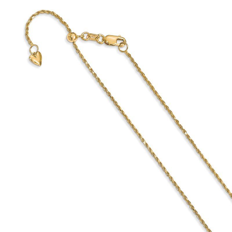 Leslie's Leslie's 14K 1.2 mm Diamond-cut Adjustable Rope