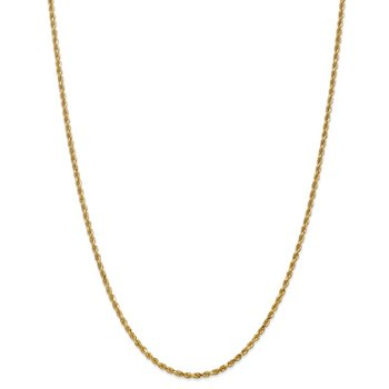 14k 2.25mm Diamond-cut Rope Chain Anklet