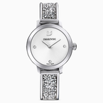 Swarovski Cosmic Rock Watch, Metal bracelet, White, Stainless steel